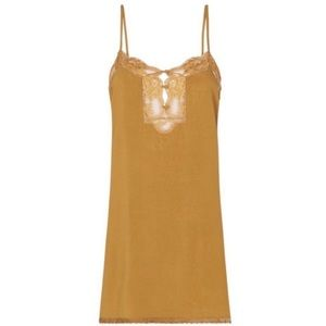 NWT SPELL LOVE LACE SLIP DRESS LOVELACE CARAMEL M